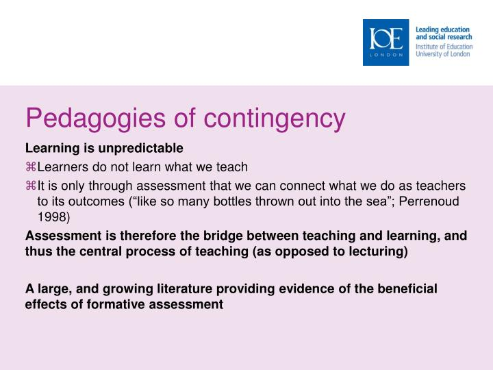 Pedagogies of contingency