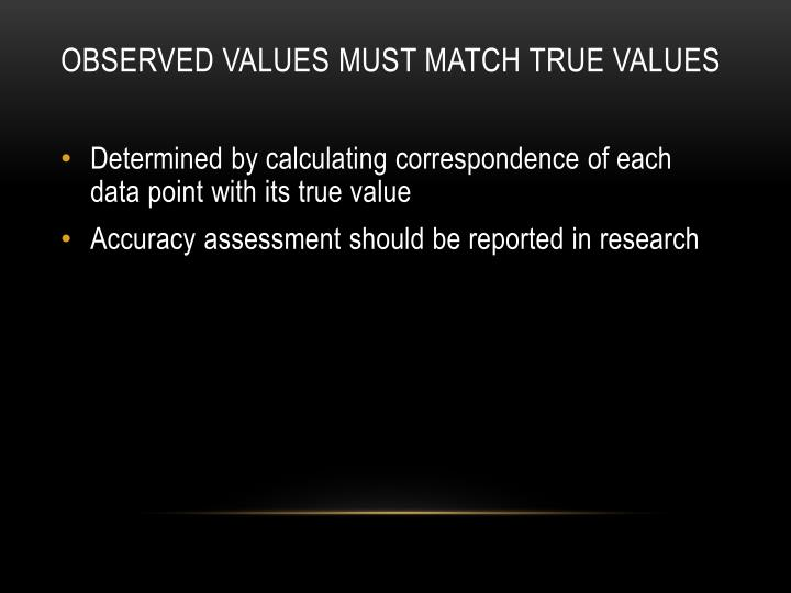 observed values