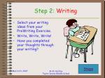 step 2 writing