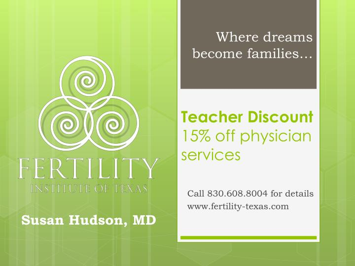 teacher discount 15 off physician services