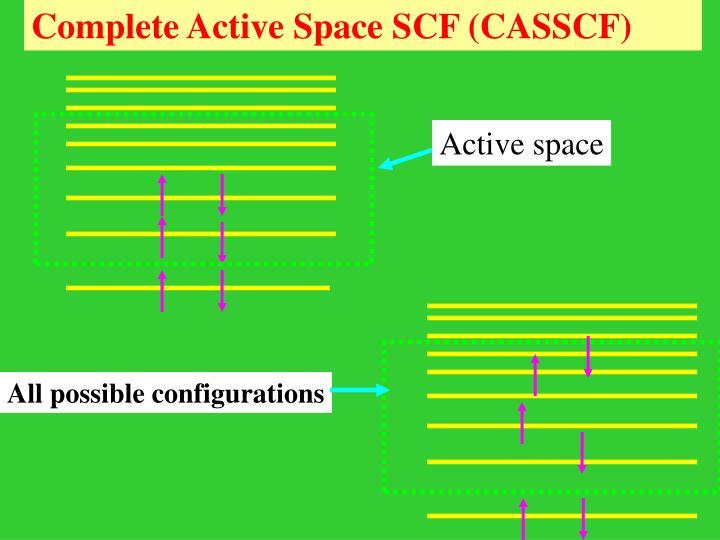 Complete Active Space SCF (CASSCF)