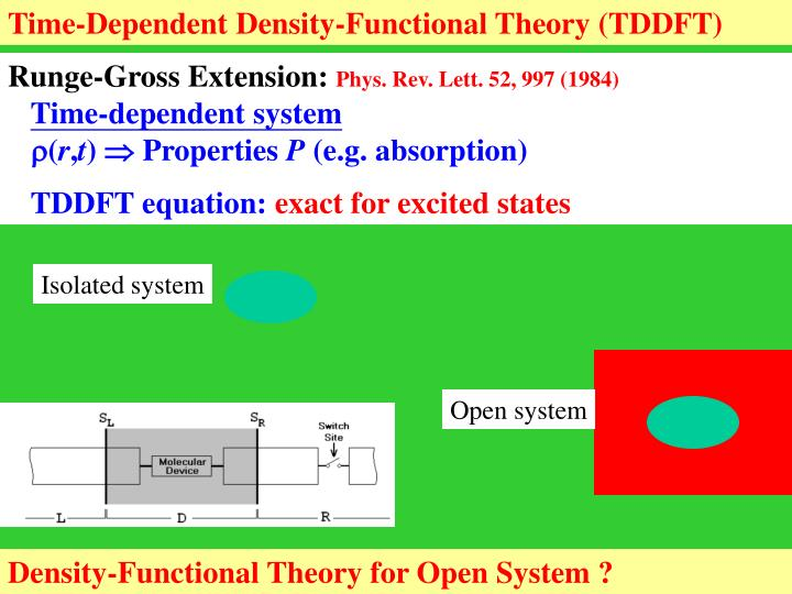 Time-Dependent Density-Functional Theory (TDDFT)
