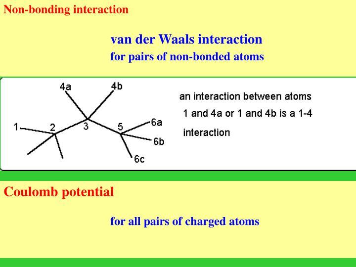 Non-bonding interaction