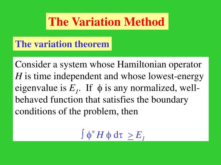 The Variation Method