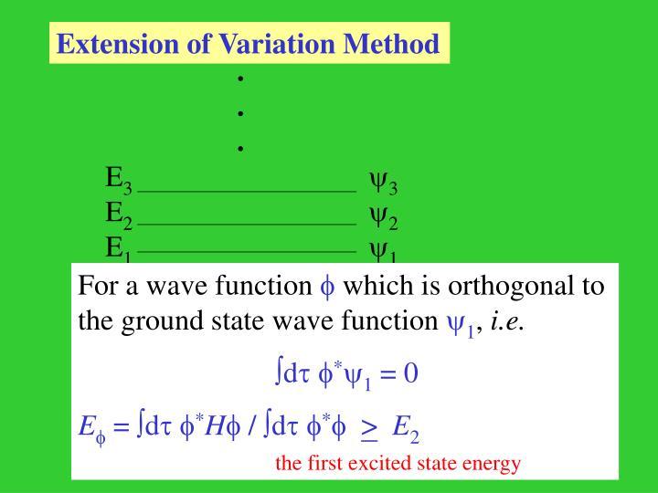 Extension of Variation Method