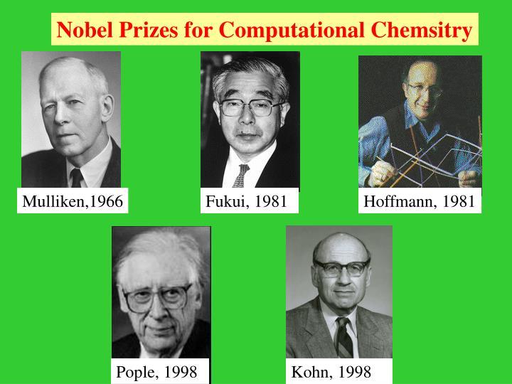 Nobel Prizes for Computational Chemsitry
