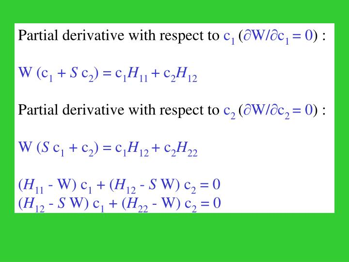 Partial derivative with respect to