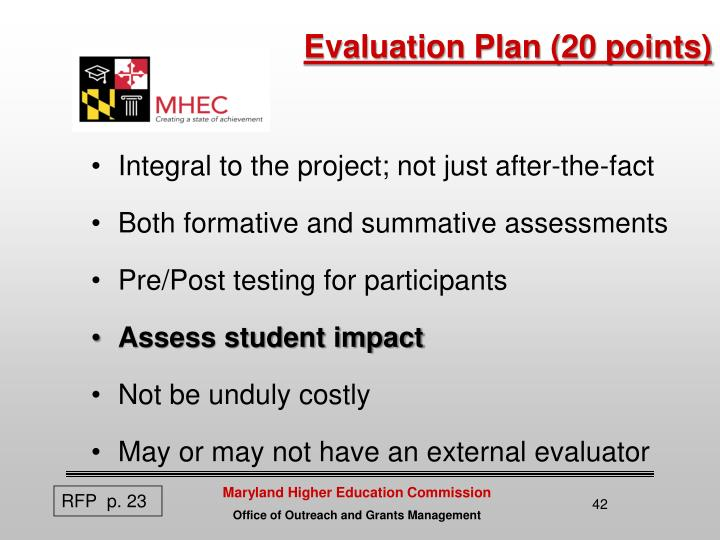 Evaluation Plan (20 points)