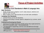 focus of project activities1