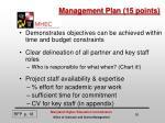 management plan 15 points