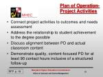 plan of operation project activities