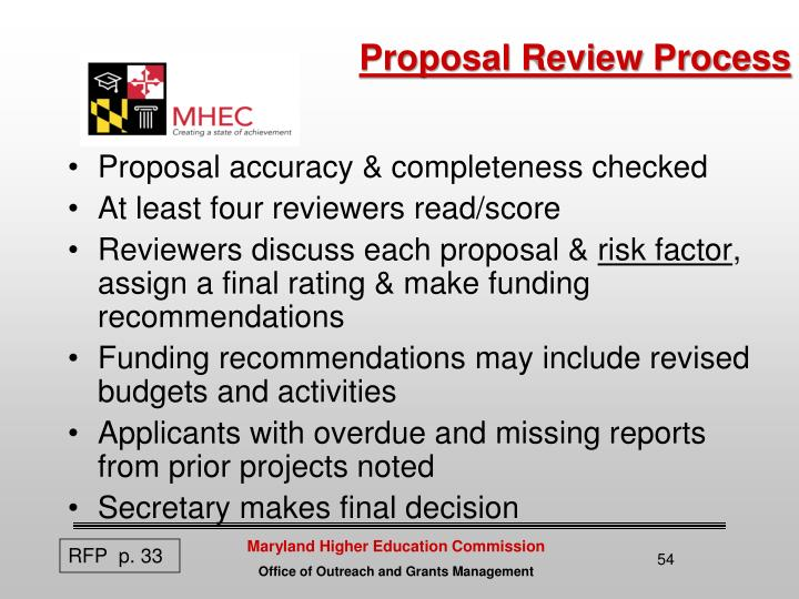 Proposal Review Process