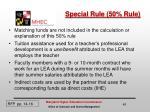 special rule 50 rule1