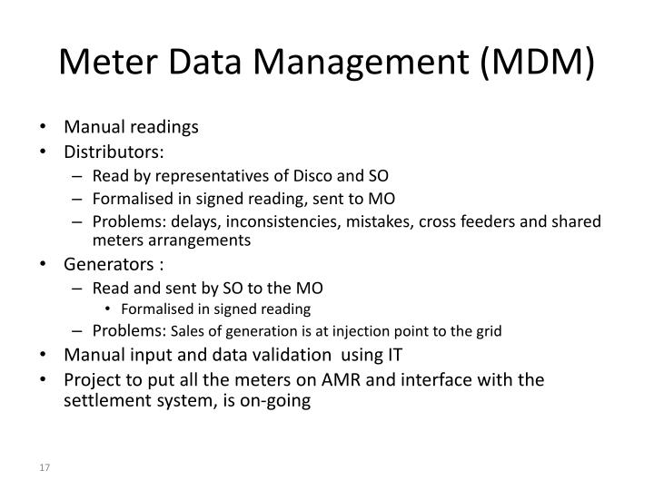 Meter Data Management (MDM)
