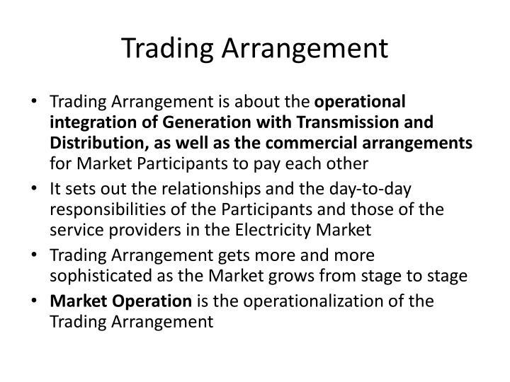 Trading Arrangement