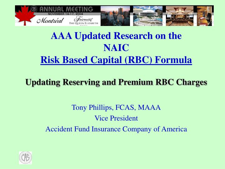 updating reserving and premium rbc charges