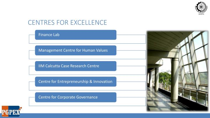Centres for excellence