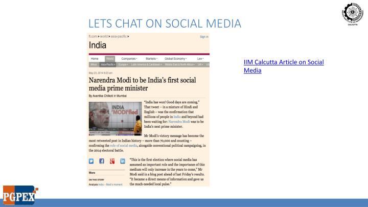 Lets chat on social media