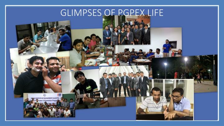 Glimpses of PGPEX life