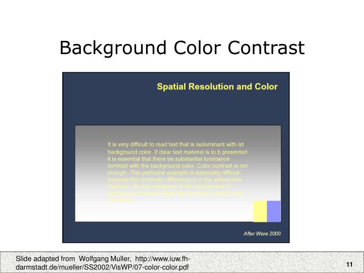 Background Color Contrast