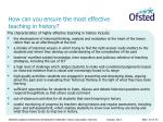 how can you ensure the most effective teaching in history3