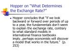 hopper on what determines the exchange rate4