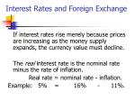 interest rates and foreign exchange1