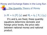 money and exchange rates in the long run1