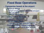 fixed base operations