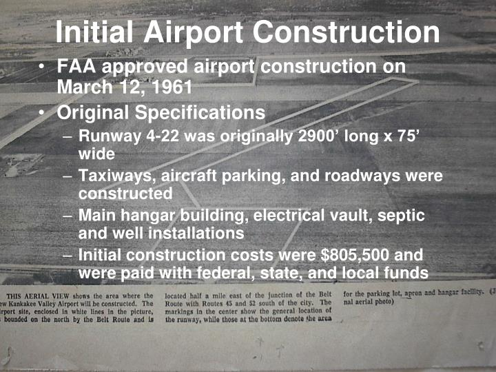 Initial Airport Construction
