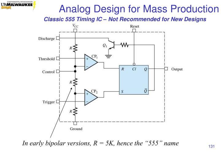 Classic 555 Timing IC – Not Recommended for New Designs