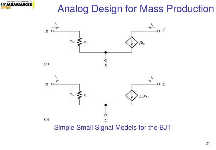 Simple Small Signal Models for the BJT
