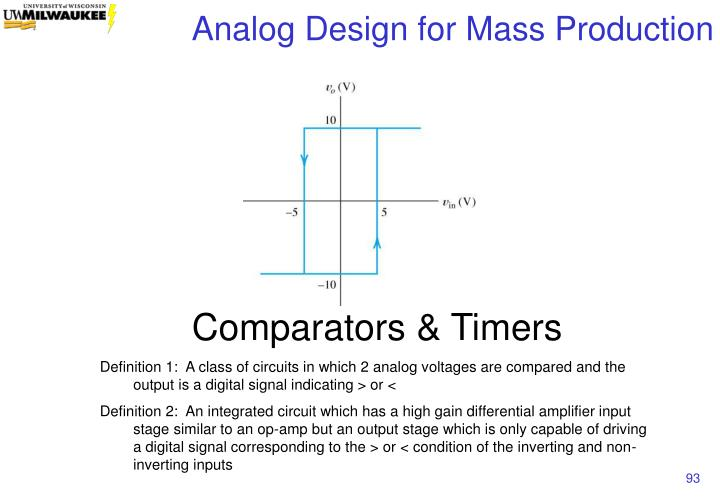 Comparators & Timers