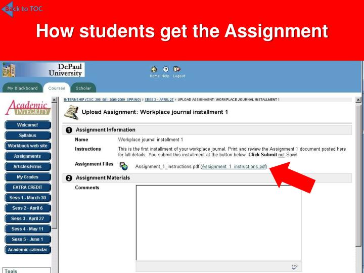 How students get the Assignment