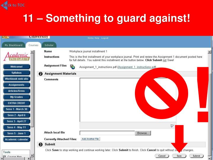 11 – Something to guard against!
