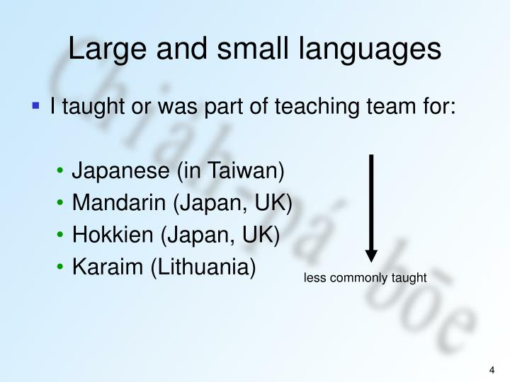 Large and small languages