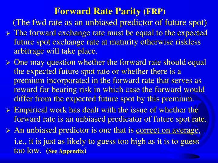 Forward Rate Parity