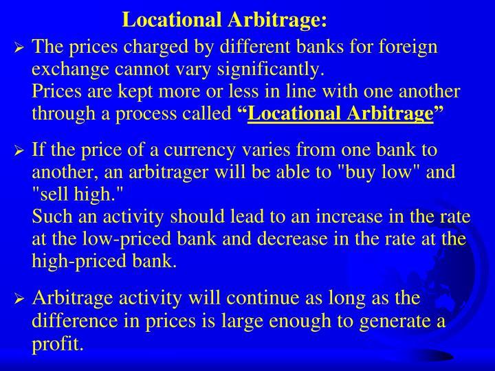 Locational Arbitrage: