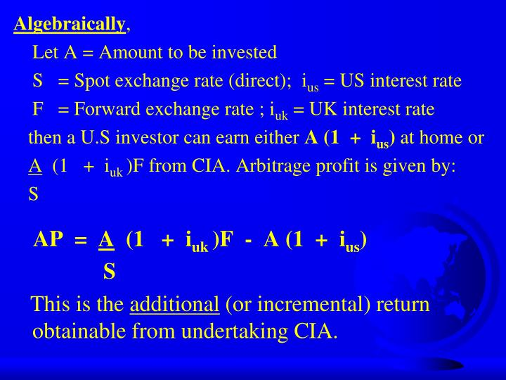 Algebraically