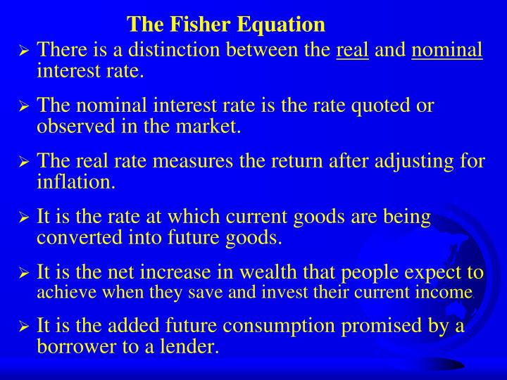 The Fisher Equation