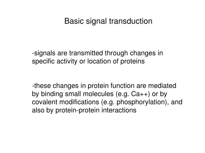 Basic signal transduction