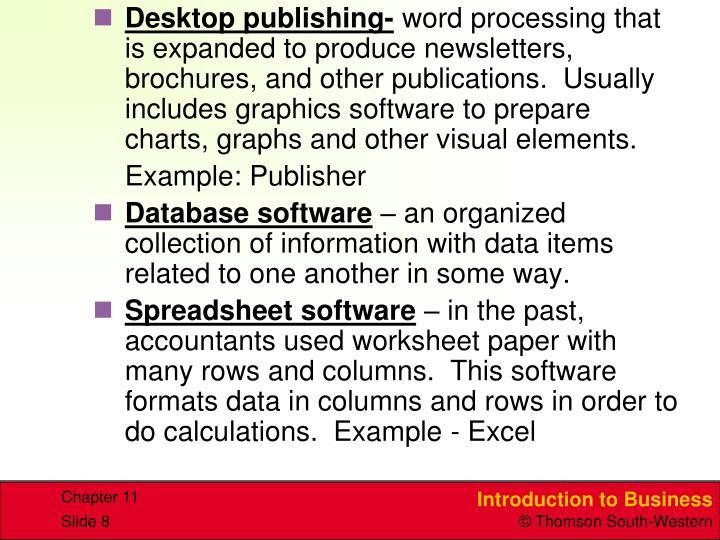 Desktop publishing-