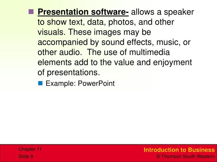 Presentation software-