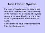 more element symbols