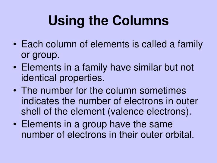 Using the Columns