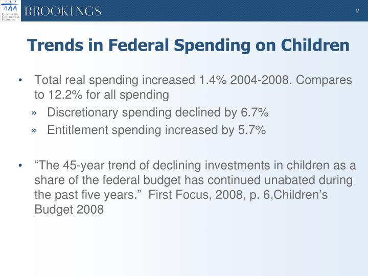Trends in Federal Spending on Children