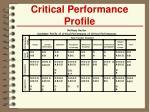 critical performance profile