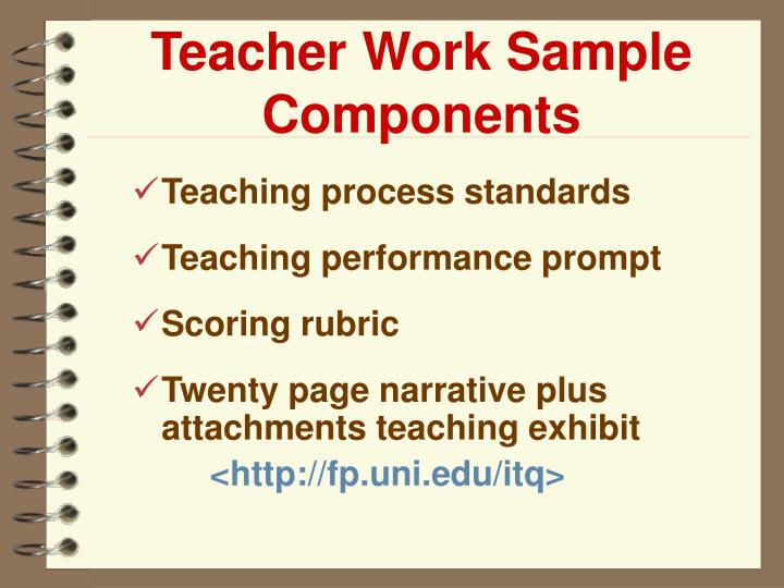 Teacher Work Sample Components