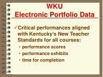 wku electronic portfolio data