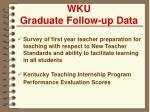 wku graduate follow up data
